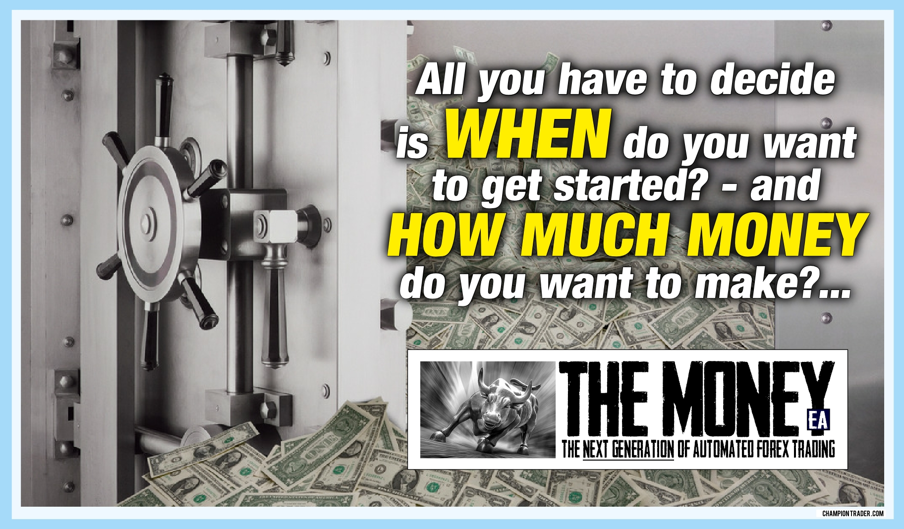 how much money do you want to make - The Money EA forex expert advisor live the life you've always dreamed of